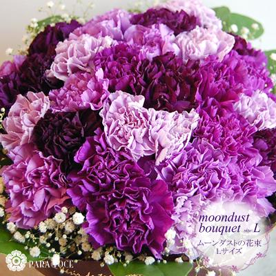 敬老の日プレゼント ムーンダストの花束Lサイズ(36本) 花 プレゼント サントリーフラワーズ 紫のカーネーション