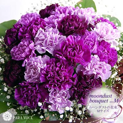 敬老の日プレゼント ムーンダストの花束Mサイズ(24本) 花 プレゼント サントリーフラワーズ 紫のカーネーション
