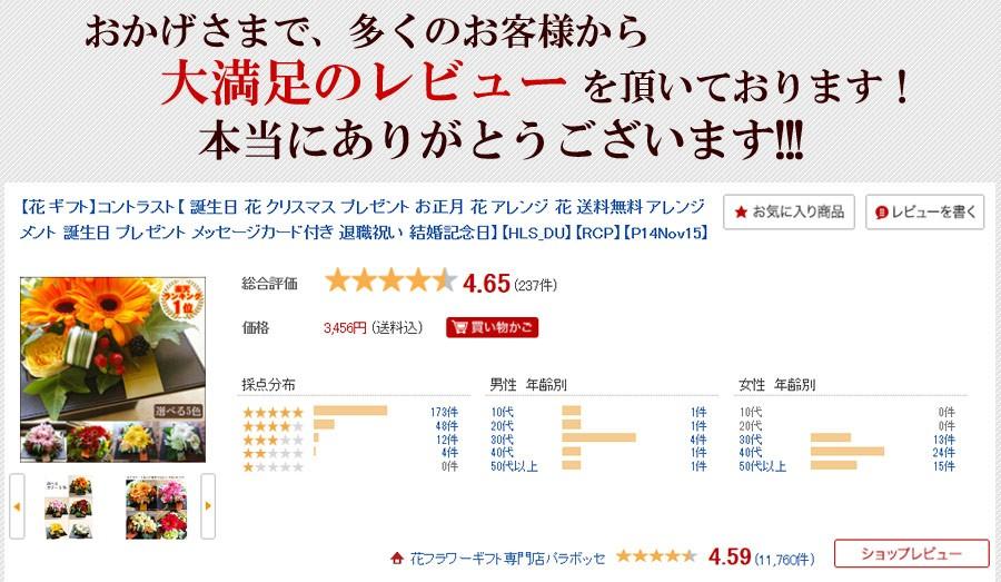 敬老の日プレゼント 生花アレンジメント コントラスト フラワーアレンジ 花 ギフト 満足度★5つ!